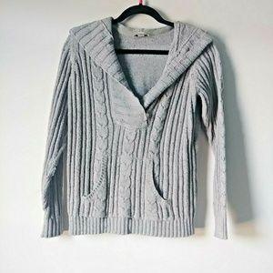 5/$15 St. John's Bay Large Gray Knit  Sweater